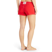 404BoardShorts_WOMENS_BOARDSHORTS-CLASSIC_RED_WA3404 On Model Back View