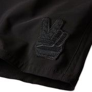 404PeaceBlackout_Womens_Boardshorts_Black_patch