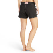 405BoardShorts_WOMENS_BOARDSHORTS-CLASSIC_BLACK_WA3405 On Model Back View
