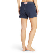 405BoardShorts_WOMENS_BOARDSHORTS-CLASSIC_NAVY_WA3405 On Model Back View