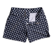 807 Board Shorts - Navy & White Polka Dot