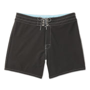 807BoardShorts_MENS_BOARDSHORTS-CLASSIC_BLACK_MA3807 Flat Lay Front View
