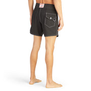 807BoardShorts_MENS_BOARDSHORTS-CLASSIC_BLACK_MA3807 On Model Back View