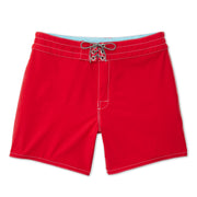 807BoardShorts_MENS_BOARDSHORTS-CLASSIC_RED_MA3807 Flat Lay Front View