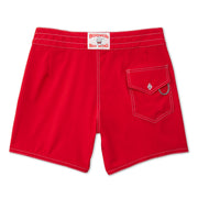 807BoardShorts_MENS_BOARDSHORTS-CLASSIC_RED_MA3807 Flat Lay Back View