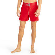 807BoardShorts_MENS_BOARDSHORTS-CLASSIC_RED_MA3807 On Model Front View