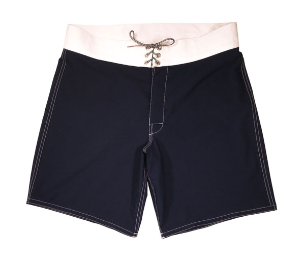 808 Navy & White Board Shorts - Front