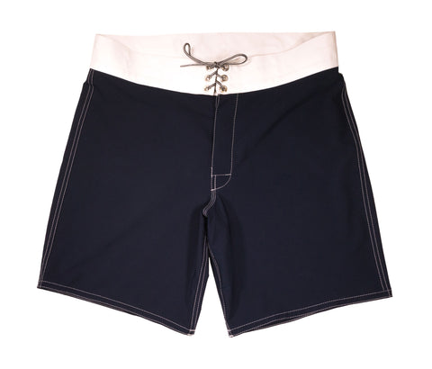 patches-front 808 Navy & White Board Shorts - Front