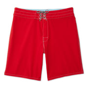 808BoardShorts_MENS_BOARDSHORTS-CLASSIC_RED_MA3808 flat lay front view
