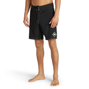 808Limited-EditionEclipse_MENS_BOARDSHORTS_BLACK_MA3808 On Model Front View