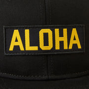 AlohaCap_Accessories_Hats_Black_Up_close_patch