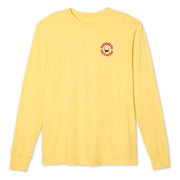 BirdieCircleLS_Mens_TShirt_AntiqueYellow_flat_lay_front