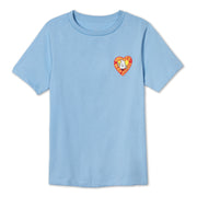 Kid's Birdie Heart T-Shirt - Light Blue