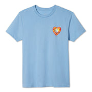 Women's Birdie Heart T-Shirt - Light Blue