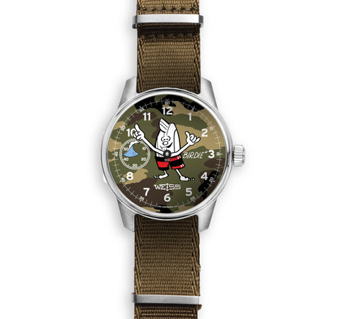 "Collector's Edition ""Birdie"" Surf Watch - Woodland Camo"