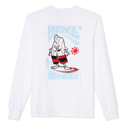 Birdie Surfs Long Sleeve T-Shirt - White