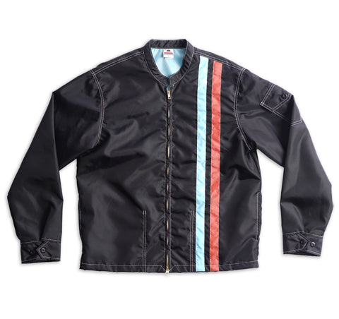 Racing Jacket - Black & Light Blue / Paprika