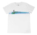White Hang 5 Graphic T-Shirt - Front