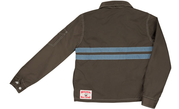 Womens Competition Jacket Brown & Federal Blue