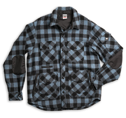 Wool Sportsman Jacket - Dull Sky Buffalo Plaid