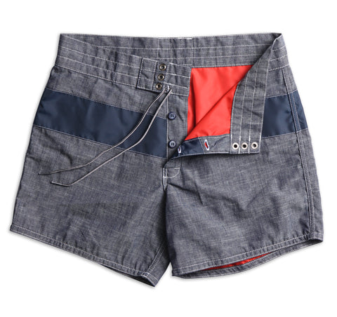 310 Limited-Edition Chambray Board Shorts - Indigo & Navy