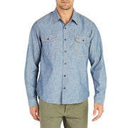ChambrayWorkShirt_MENS_SHIRT_WashedIndigo_MA5007 on model front view