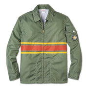 Comp3StripeJacket60thAnniversary_Mens_Outerwear_OliveYellowPap_flat_lay front