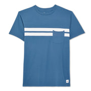 Comp Stripe T-Shirt - Indigo & White
