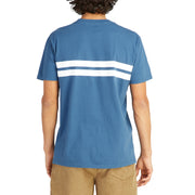 CompStripeTShirt_MENS_T-SHIRT_INDIGO_WHITE_MA1010 On Model Back View