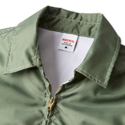 CompetitionJacketNewFit_Mens_Outerwear_OliveGold_up_close_collar