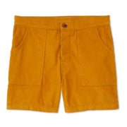 CordShorts_MENS_WALKSHORTS_GOLD_MA4006 Flat Lay Front View