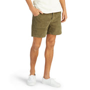 CorduroyShorts_MENS_SHORTS_OLIVE_MA4006 On Model Front View