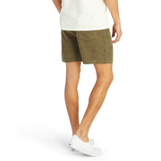CorduroyShorts_MENS_SHORTS_OLIVE_MA4006 On Model Back View