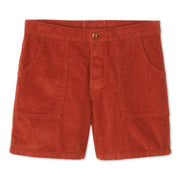 Corduroy Shorts - Rust