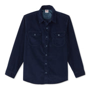 CorduroyWorkShirt_MENS_OUTERWEAR_NAVY_MA5006 Flat Lay Front View