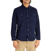 CorduroyWorkShirt_MENS_OUTERWEAR_NAVY_MA5006 On Model Front View