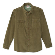 CorduroyWorkShirt_MENS_OUTERWEAR_OLIVE_MA5006 Flat Lay Front View