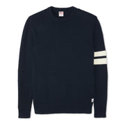 Cotton Knit Sweater – Navy & Cream