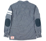 Grey Cotton CPO Shirt - Back