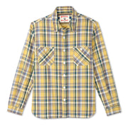 FlannelWorkShirt_MENS_SHIRT_GOLDPLAID_MA5005 Flat Lay Front View