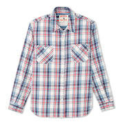 FlannelWorkShirt_MENS_SHIRT_NATURALPLAID_MA5005 Flat Lay Front View