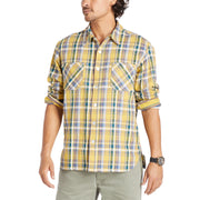 Flannel Work Shirt - Gold Plaid