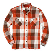 FlannelWorkShirt_Mens_Shirts_GoldenBrown_flat_lay_front