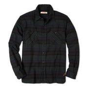 FlannelWorkShirt_Mens_Shirts_MidnightGreen_flat_lay_front