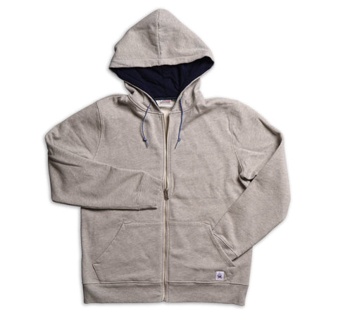 Men's Hooded Zip Front Sweatshirt - Heather Grey