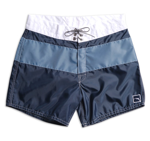 310 Limited-Edition Free Bird Board Shorts - Navy & White / Federal Blue