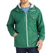 HoodedCompetitionJacket_MENS_OUTERWEAR_DARKGREEN_MA9017 On Model Front View
