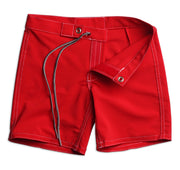 304 Kid's Board Shorts - Red Flat Lay Front Open View