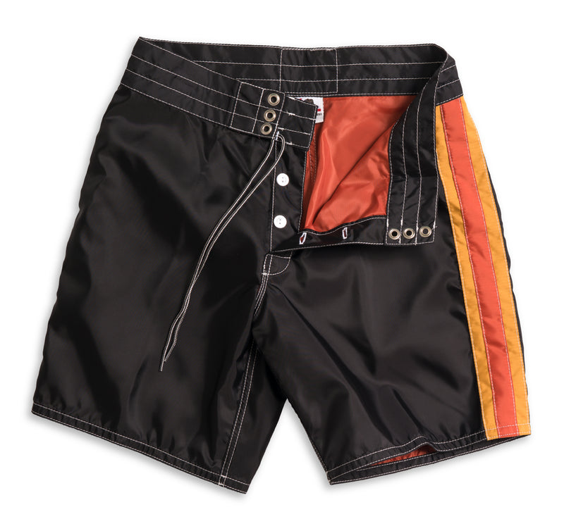 311 Limited-Edition 3 Stripe Board Shorts - Black & Paprika / Gold
