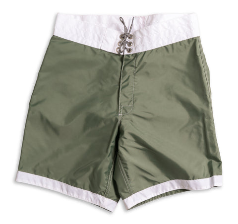 311 Limited-Edition White Tip Board Shorts - Olive & White